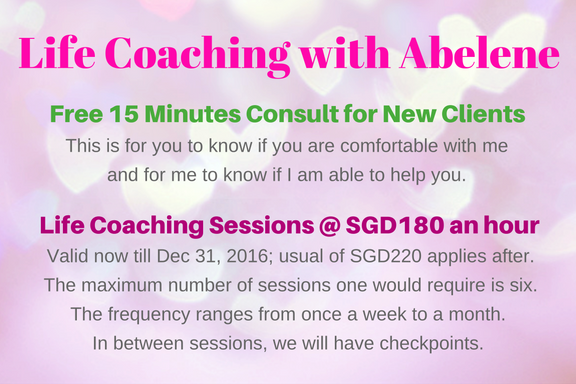 Life Coaching Offer 2016